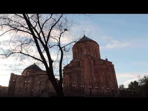 Армянский храм со стороны Олимпийского проспекта. Москва