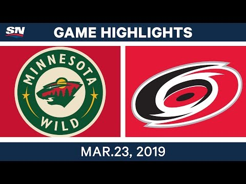 NHL Game Highlights | Wild vs. Hurricanes – March 23, 2019