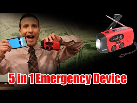 Solar Hand Crank Phone charger ◄ AN EMERGENCY MUST HAVE!