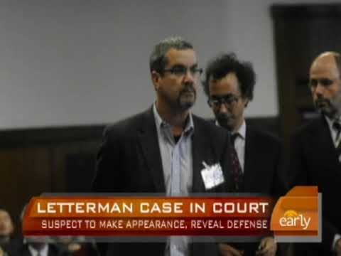 David Letterman Case in Court