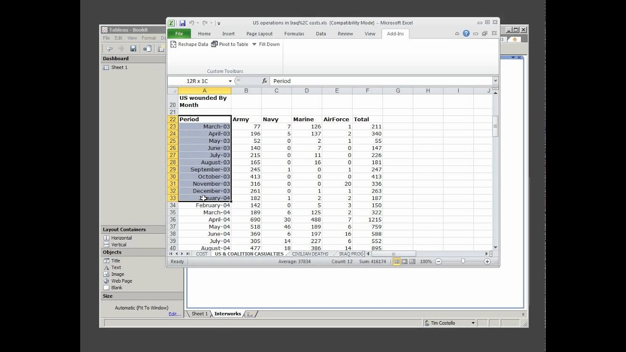 Preparing Data For Tableau 1 Of 3 Youtube