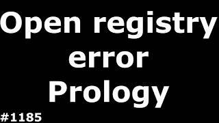 Open registry error Prology imap 4000m. Restore the registry, instructions for full firmware