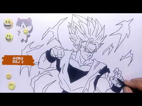 How to draw goku easy from Dragon Ball SSJ 2 - Step by Step Video