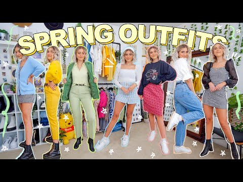 20 SPRING OUTFIT IDEAS | Trying 2020 Spring Trends *with Thrift Clothes*