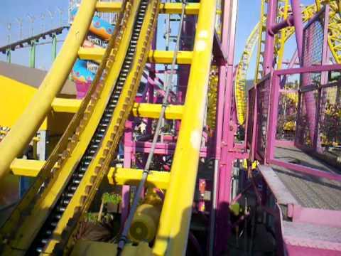 Roller coaster ride at Southend Amusement Park - Rage