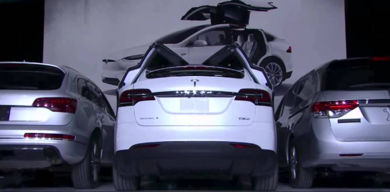 Tesla Model X Falcon Wing Doors demo & Tesla Model X Falcon Wing Doors demo - YouTube