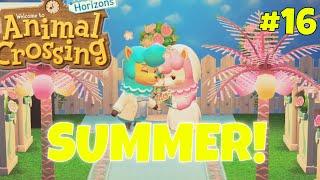 It's Summer! Wedding Season + New Villager! | Animal Crossing New Horizons