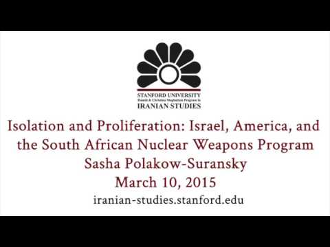 Isolation And Proliferation: Israel, America, And The South African Nuclear Weapons Program