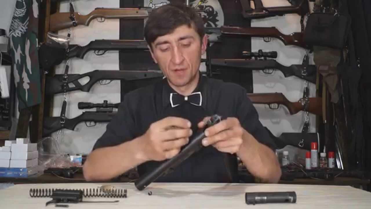 Стрельба Иж 38 с пружиной от мр 512 - YouTube