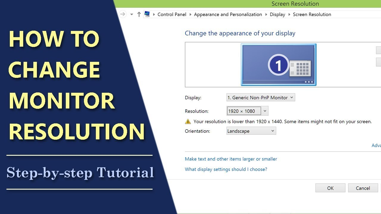 How To Change Monitor Resolution What Resolution Is My Monitor Youtube