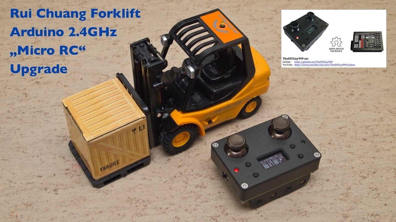 Postbag and rui chuang rc forklift ghz arduino micro