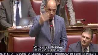 Cosimo Adelizzi - Intervento sulla seduta fiume Decreto #MilleProroghe 13/09/2018