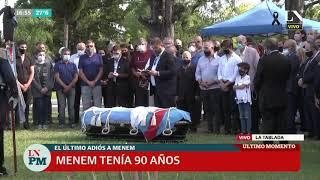 El último adiós al expresidente Carlos Menem