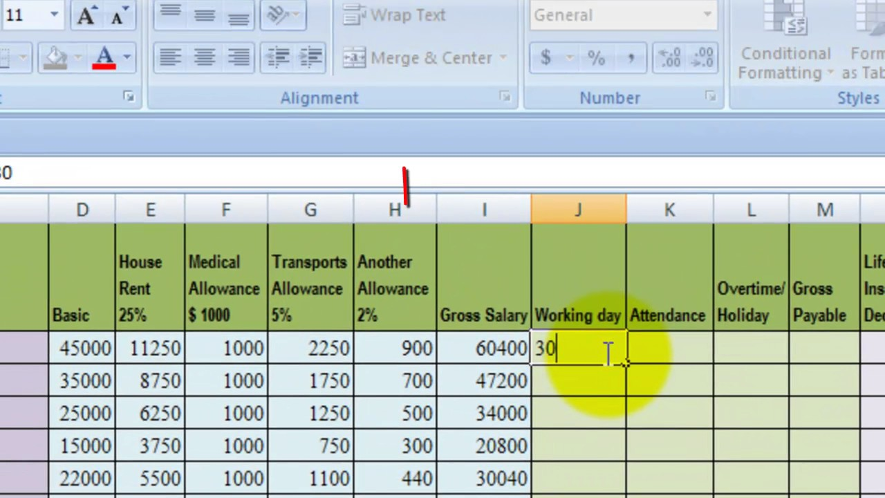 how to make microsoft excel salary sheet tutorials final