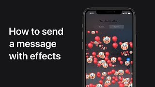 How To Send A Message With Effects On Iphone Ipad And Ipod Touch Apple Support Youtube