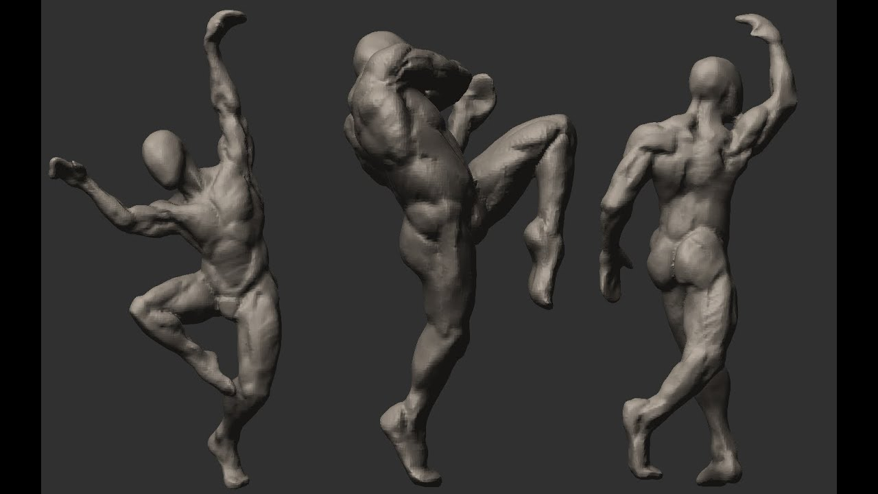 Anatomy Sketch Zbrush Speed Sculpt Youtube