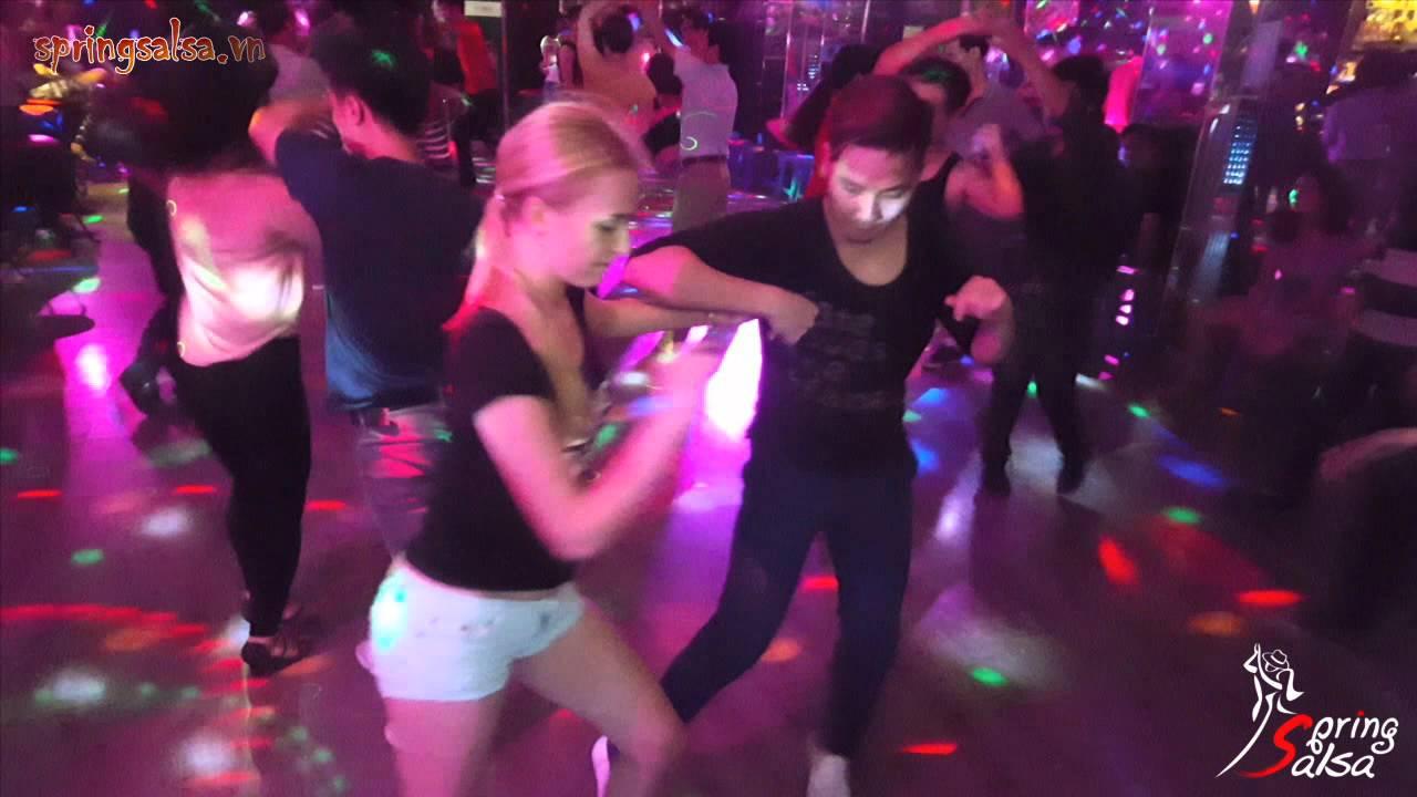 Ngoc Nam & Aleksandra Shatalova ~ Social Dance at Spring Salsa Studio (September 2015)