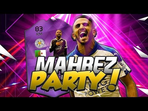 HIGHEST RATED HERO MAHREZ AND THE VARDY PARTY SQUAD! FIFA 16 ULTIMATE TEAM