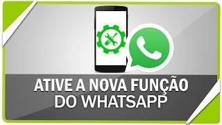 Como ativar a nova função do WhatsApp