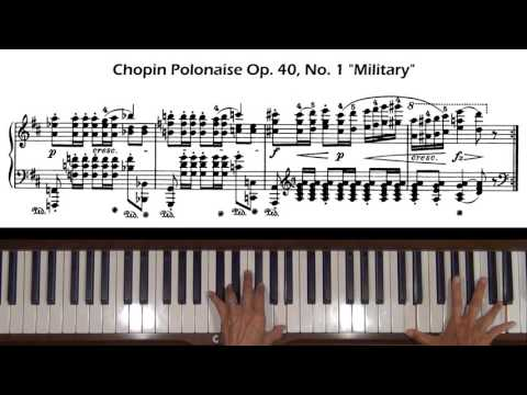"Chopin Polonaise Op. 40, No. 1 ""Military"" Piano Tutorial (with Score)"