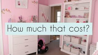 How much that cost? Nursery furniture and decor