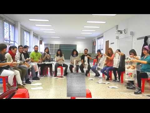 Educación Musical: Percusión en grupos con periódicos - Los comediantes