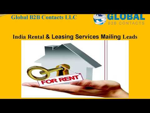 India Rental & Leasing Services Mailing Leads, http://globalb2bcontacts.com