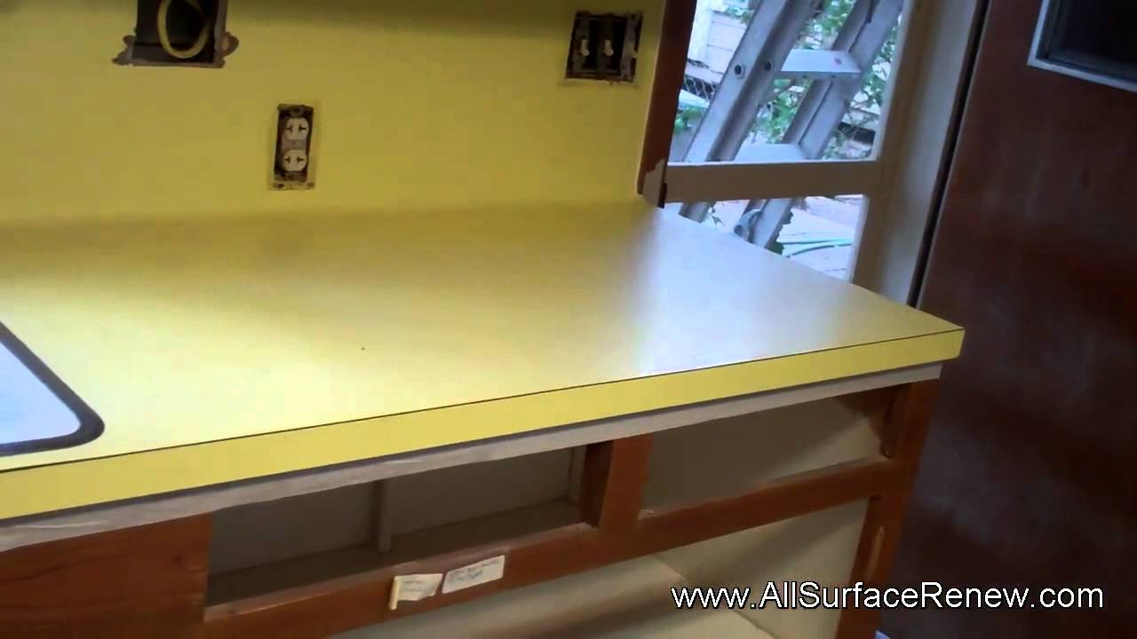 Countertop Yellowing : Daisy Yellow Countertop Color Updated in 1 Day - YouTube