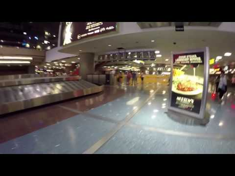 A walk trough McCarran airport terminal 1 in Las Vegas.