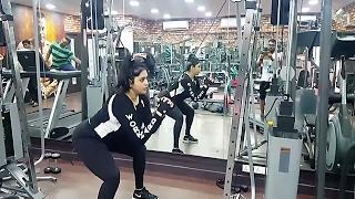 South Indian Actress Namitha's Workout Video.