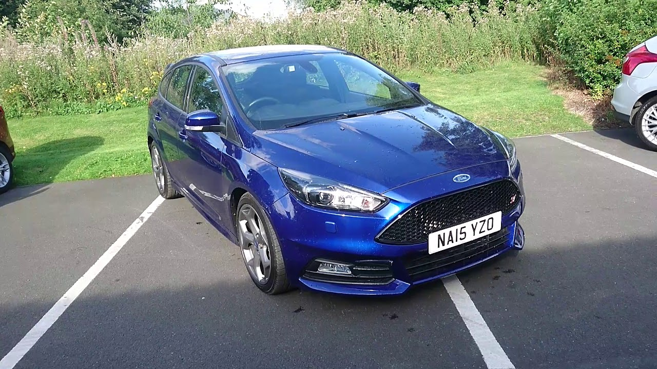 used ford focus 20 tdci 185 st 3 5dr deep impact blue 2015