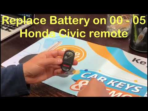 How to change battery on 2001 - 2005 Honda Civic Pilot Remote fob