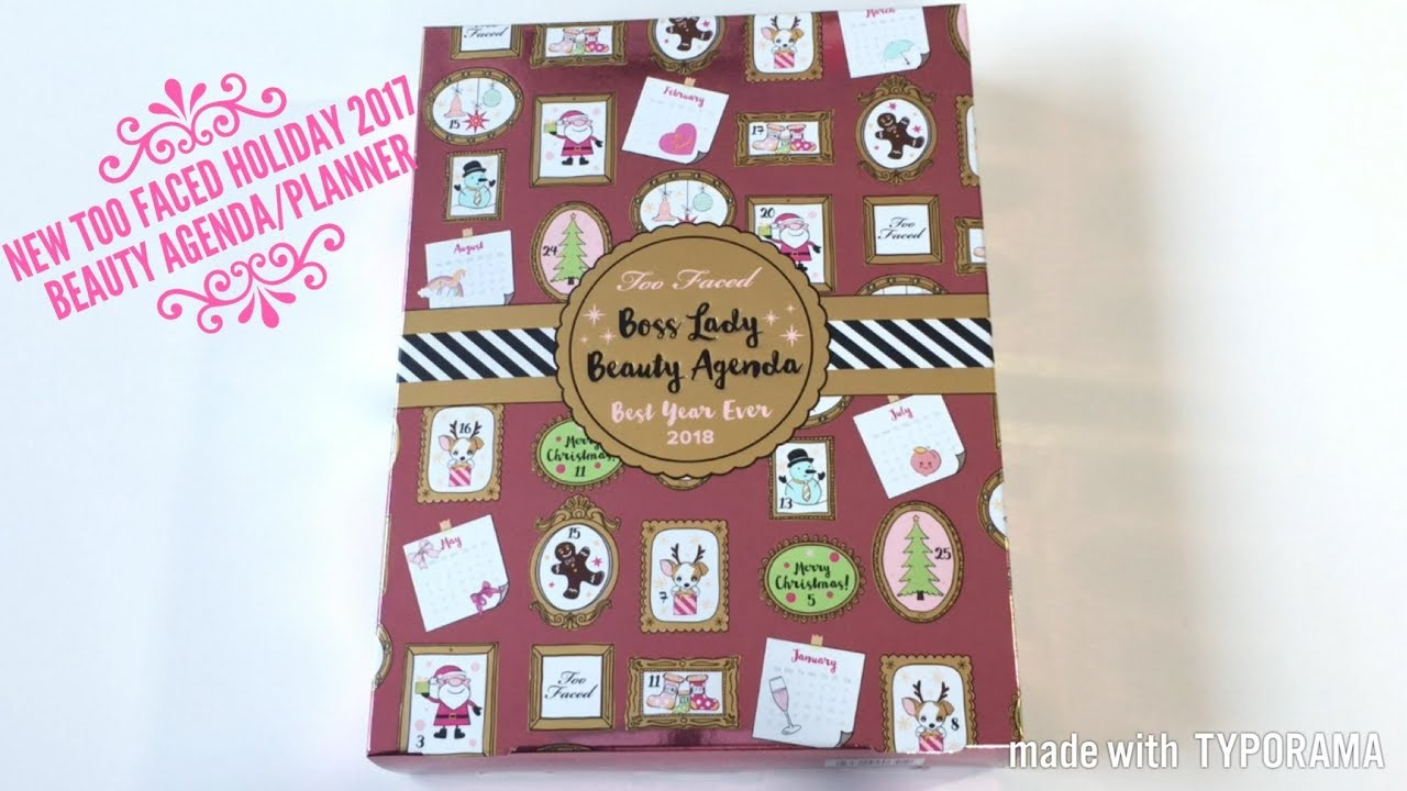 New Too Faced Holiday 2017 Boss Lady Beauty Agenda Planner Flip ...