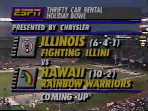 1992 Illinois vs Hawaii   Holiday Bowl