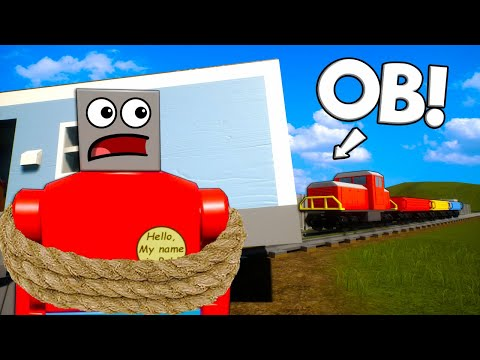 Spycakes & I Killed OB to Stop the Lego Train! - Brick Rigs Multiplayer Roleplay |