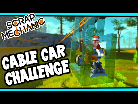 Scrap Mechanic! - CABLE CAR CHALLENGE! Vs AshDubh - [#28] | Gameplay |
