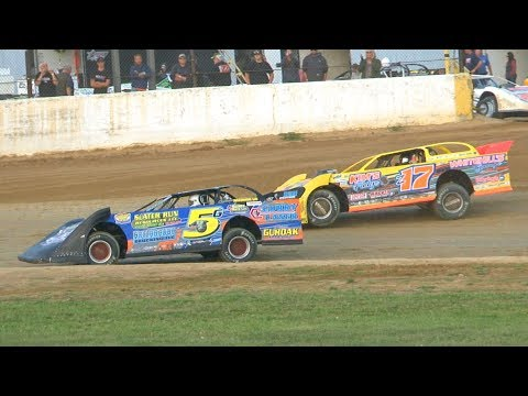 RUSH Crate Late Model Heat Two at Stateline Speedway (Busti, NY) on Saturday, August 31st, 2019! Stateline Speedway: http://newstatelinespeedway.com. - dirt track racing video image