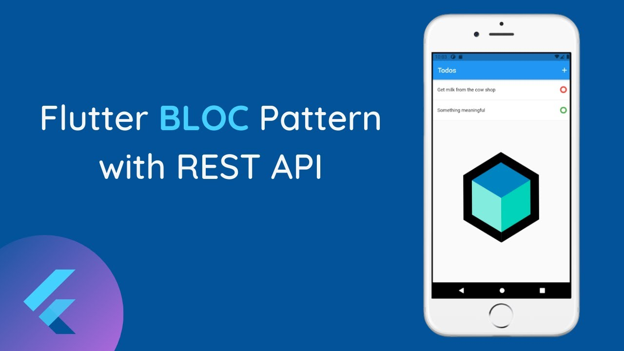 Flutter BLoC/Cubit Tutorial with REST API and Repository Pattern
