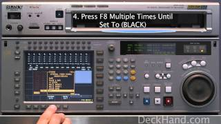 how to set video black on sony srw 5500