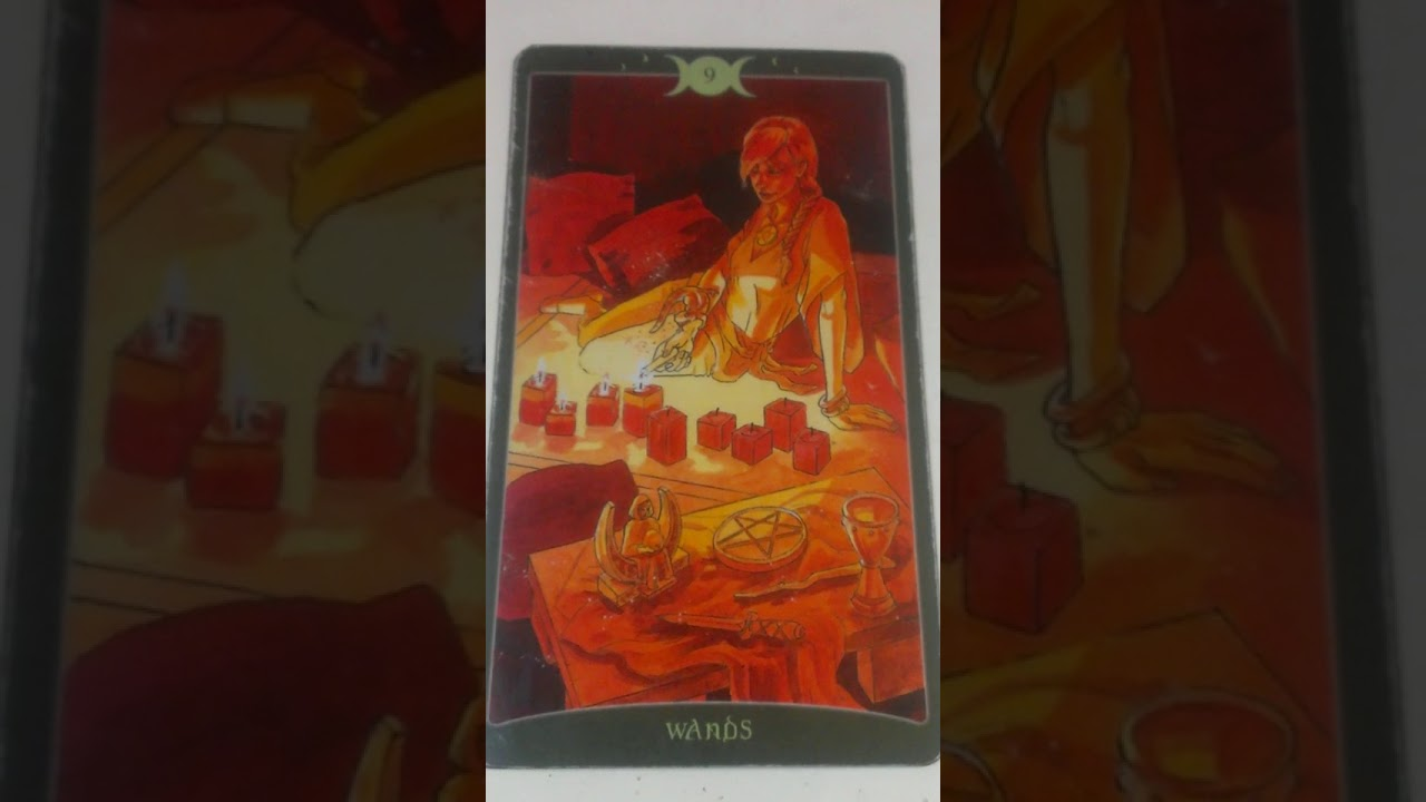 The Nine of Wands as Feelings in a Love Reading