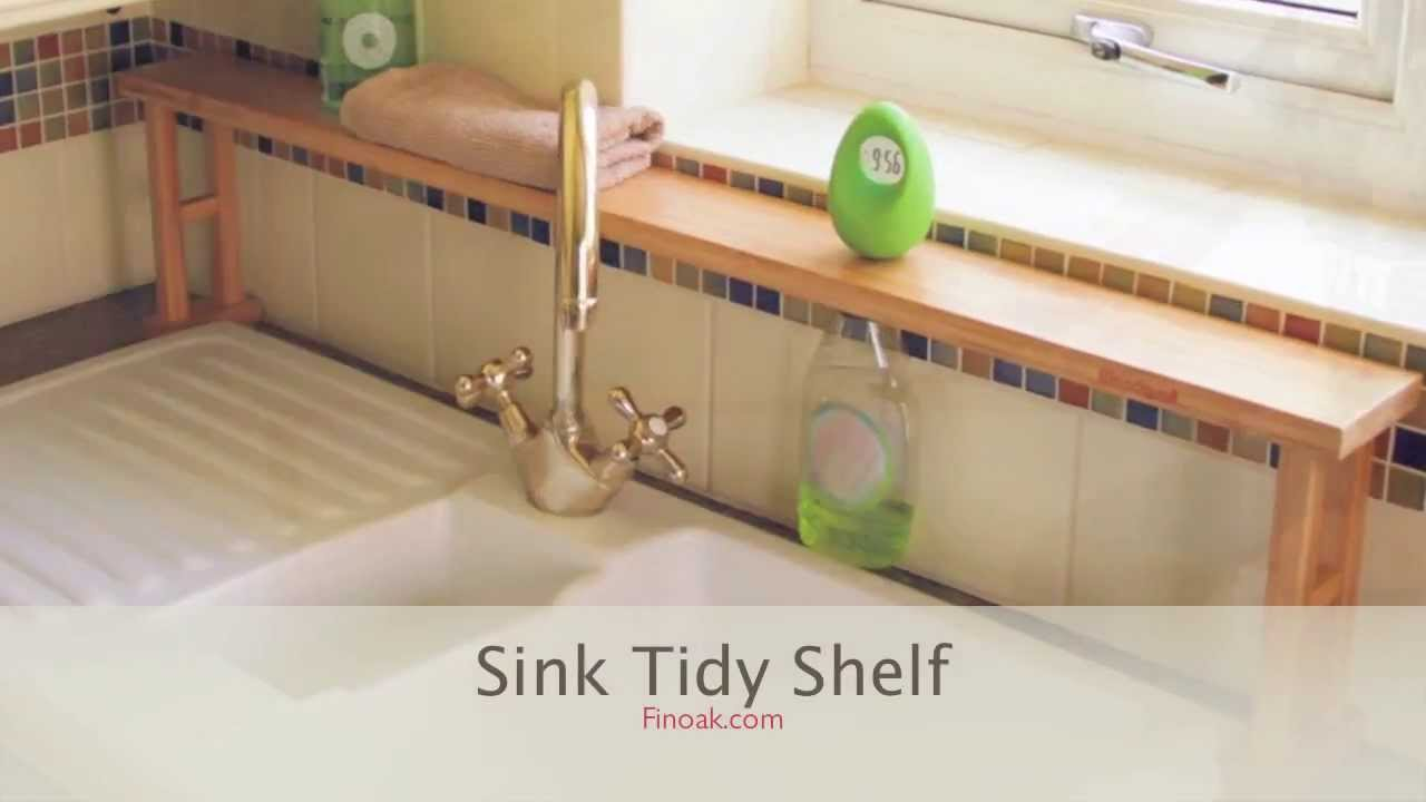 1364 Bamboo Over Sink Shelf Sink Tidy Youtube