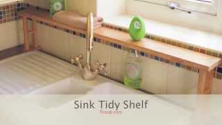 1364 Bamboo Over Sink Shelf, Sink Tidy