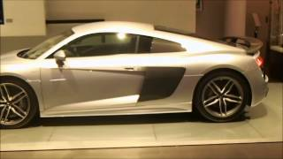 New 2016 Audi R8 V10 Plus Floret Silver with light brown interior (Audi Exclusive )