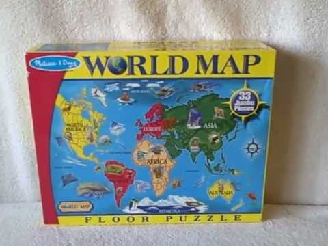 Melissa and doug giant world map floor jigsaw puzzle has all the melissa and doug giant world map floor jigsaw puzzle has all the pieces used gumiabroncs Image collections