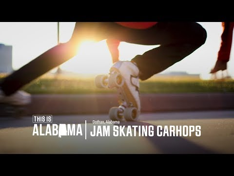 Jam Skating Carhops; Dothan, AL   This is Alabama