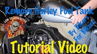 remove install harley davidson fuel gas tank motorcycle biker podcast