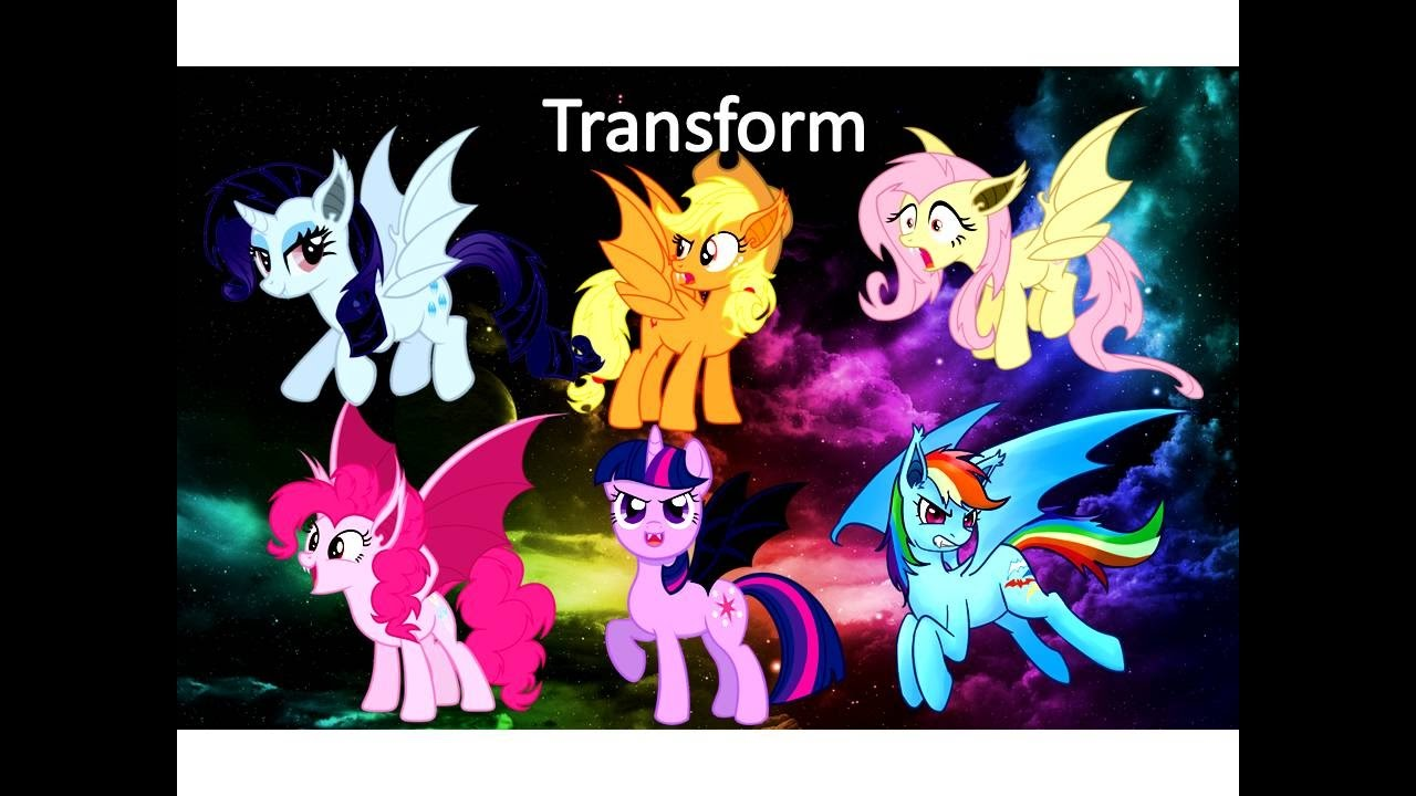 Kleurplaten Little Pony.My Little Pony Transform Into My Little Pony Vampire Coloring Video Kiddie Toys