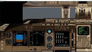 Aerowinx の747シミュレータ Precision Simulator 10 (PSX) でトラフィ...