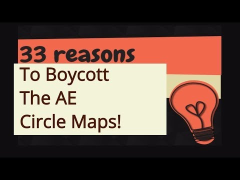 33 Reasons To Boycott The AE Map: Flat Earth Conspiracy