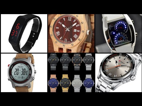 Most Beautiful And Stylish Branded Leather And Steel Men Wrist Watch Collection